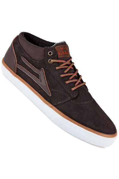 Lakai Griffin Mid AW Suede Shoe (coffee oiled)