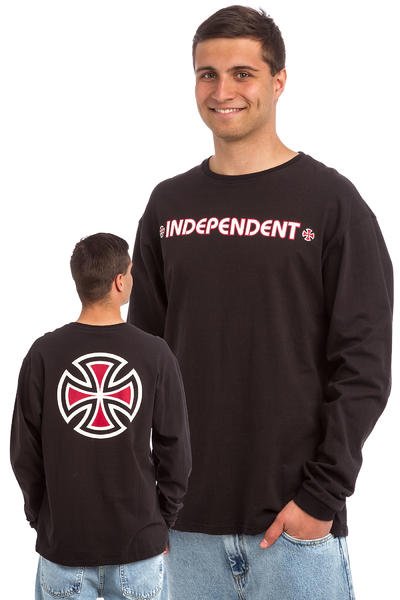 Independent Bar Cross Longsleeve (black)