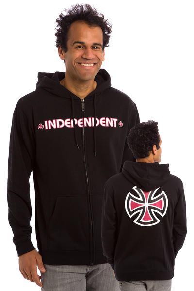 Independent Bar Cross Zip-Hoodie (black)