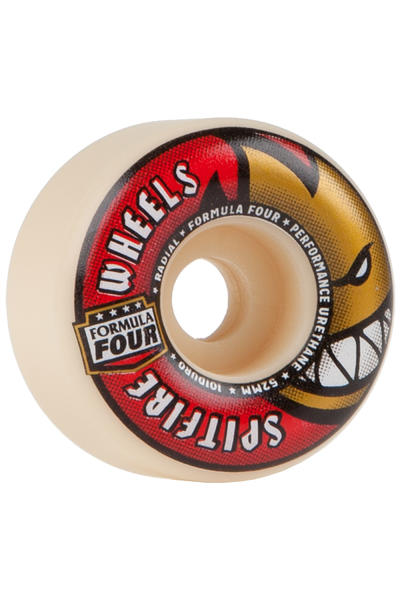 Spitfire Formula Four Radials 52mm Roue (white red) 4 Pack
