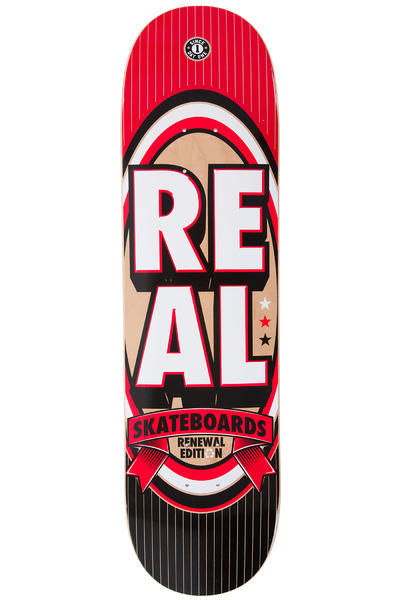"Real Team Renewal Stacked 8.25"" Deck (red black)"