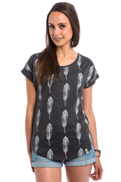 SK8DLX Comfy Feather T-Shirt women (dark grey heather)