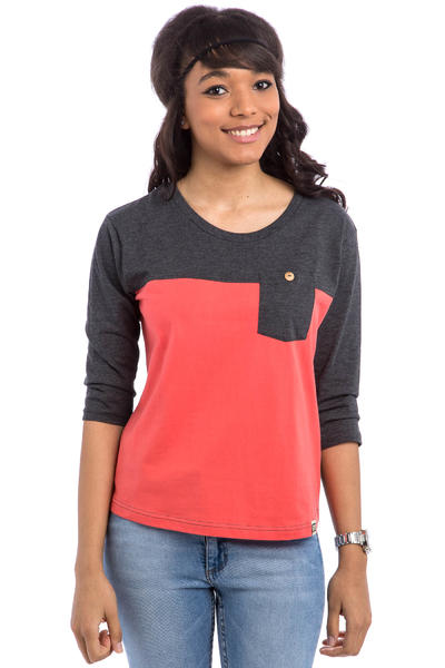 SK8DLX Quinn Longsleeve women (coral dark grey heather)