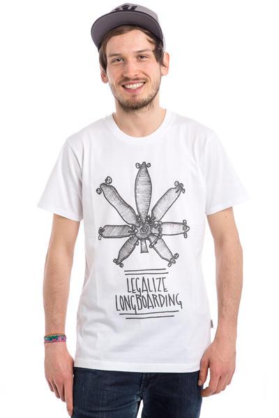 Legalize Longboarding Legalize It Camiseta (white black)