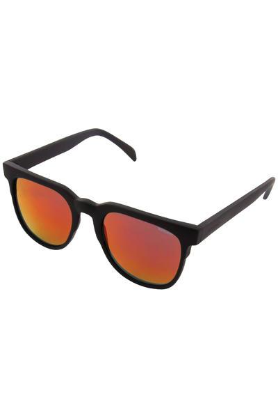 Komono Riviera Gafas de sol (black rubber red mirror)