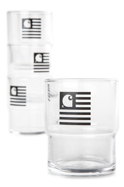 Carhartt WIP Stackable Glasses Acc. (black) 4er Pack