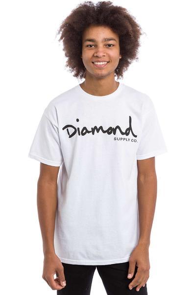 Diamond OG Script Camiseta (white)