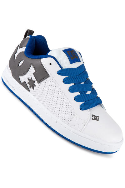 DC Court Graffik Leather Shoe (white blue grey)