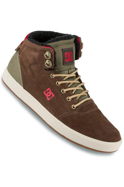 DC Crisis High WNT Suede Shoe (chocolate green)