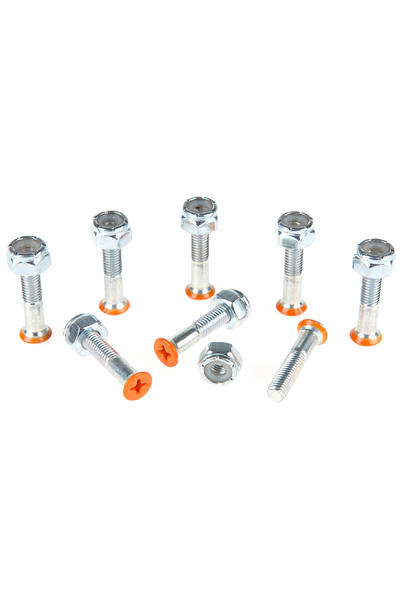 "Shortys 1"" Bolt Pack (orange) Flathead (countersunk) cross slot"