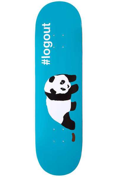 "Enjoi Logout Panda 8.5"" Deck (blue)"