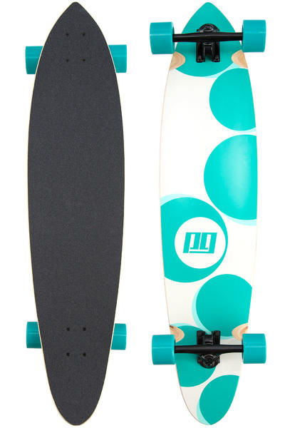 "Peng Airtime 41"" (104cm) Complete-Longboard (white turquoise)"