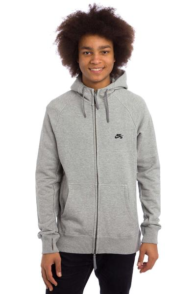 Nike SB Everett Graphic Zip-Hoodie (dark grey heather black)