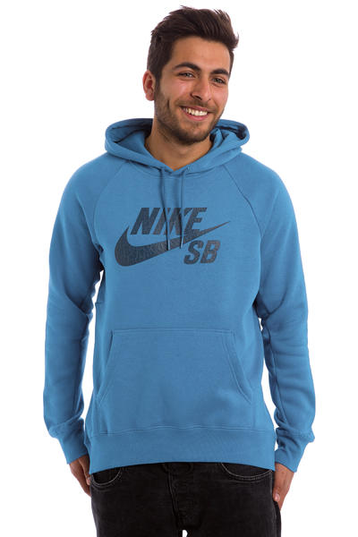 Nike SB Icon Crackle Hoodie (brigade blue)