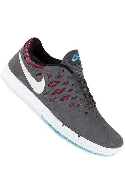 Nike SB Free Shoe (dark grey white team red)