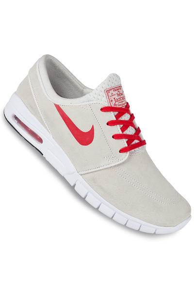 Nike SB Stefan Janoski Max Suede Shoe (summit white university red)