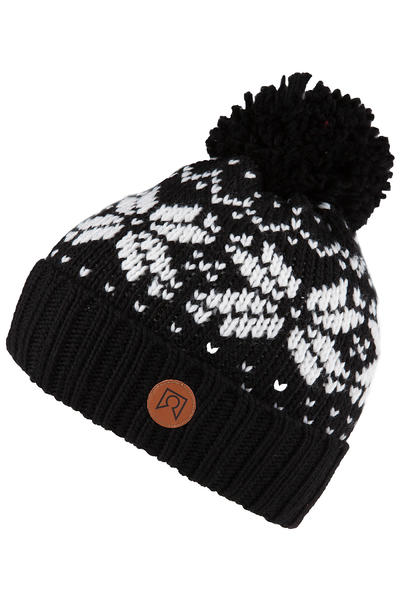 Private Logo Cable Beanie (black white)