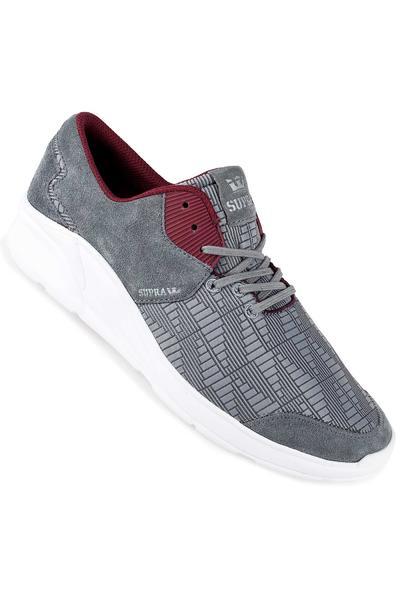 Supra Noiz Shoe (steel burgundy white)