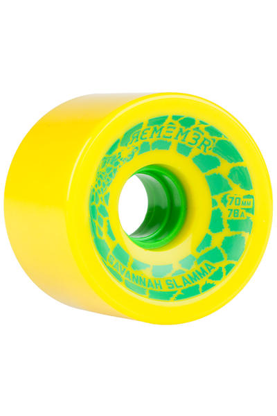 Remember Savannah Slamma 70mm 78A Wheel (yellow) 4 Pack