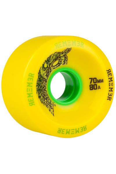 Remember Hoot Slide 70mm 80A Wheel (yellow) 4 Pack