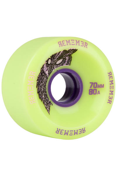 Remember Hoot Slide 70mm 80A Rueda (green) Pack de 4