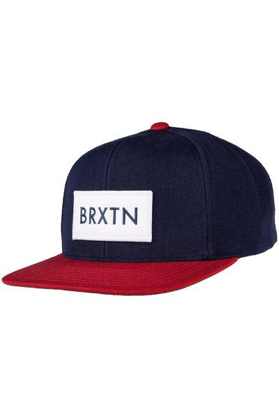 Brixton Rift Snapback Cap (navy red)