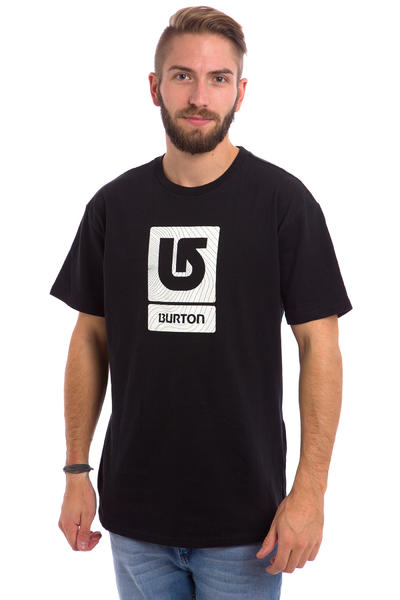 Burton Logo Vertical Fill T-Shirt (true black)