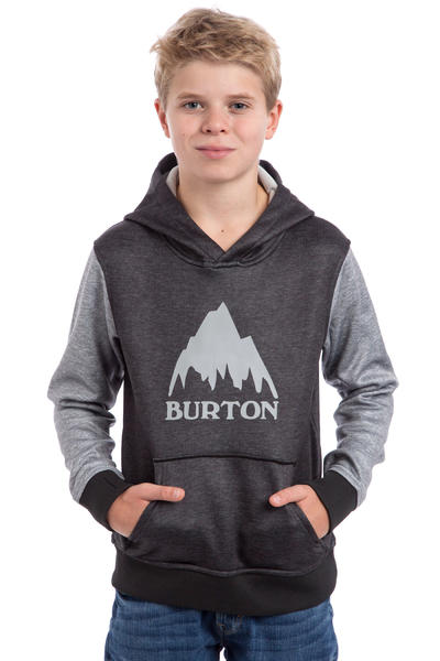 Burton Crown Bonded Hoodie kids (true black highrise heather)