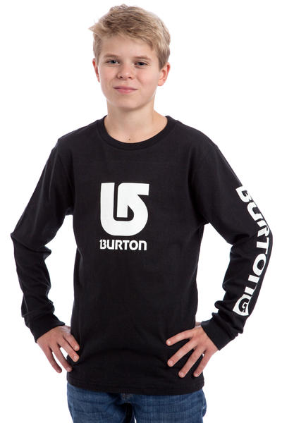 Burton Logo Vertical Fill Longsleeve kids (true black)
