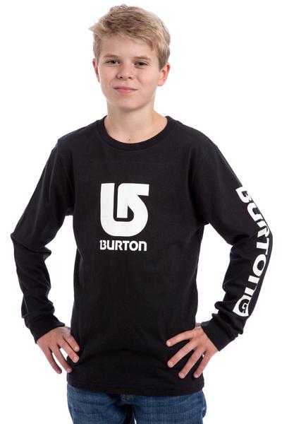Burton Logo Vertical Fill Longsleeve kids (true black)