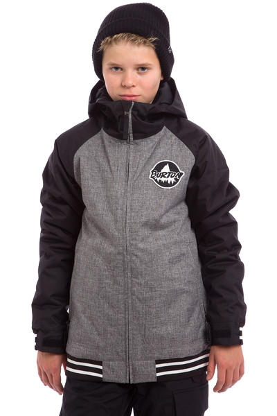 Burton Game Day Snowboard Jacke kids (true black heather bog)