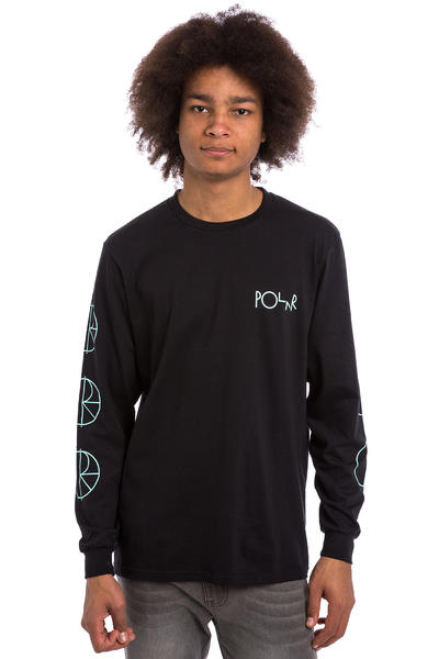 Polar Skateboards Racing Longsleeve (black mint white)