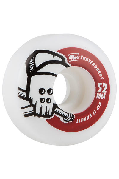 MOB Skateboards Skull 52mm Rollen (white red) 4er Pack