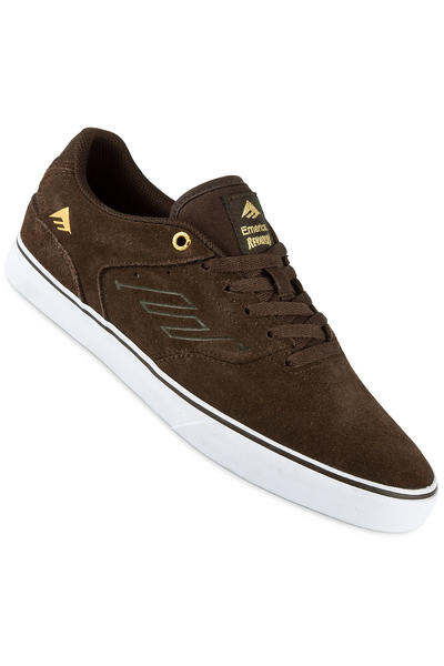 Emerica The Reynolds Low Vulc Suede Shoe (brown white)
