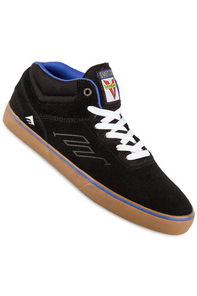 Emerica x Venture The Westgate Mid Vulc Suede Shoe (black blue)