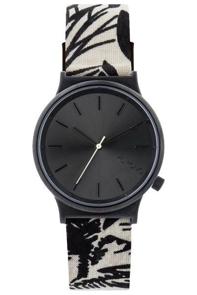 Komono Wizard Print Montre (black palms)