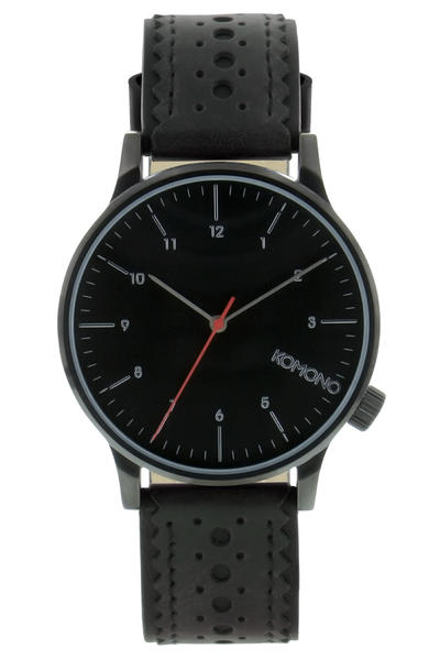 Komono Winston Brogue Watch (jet black)
