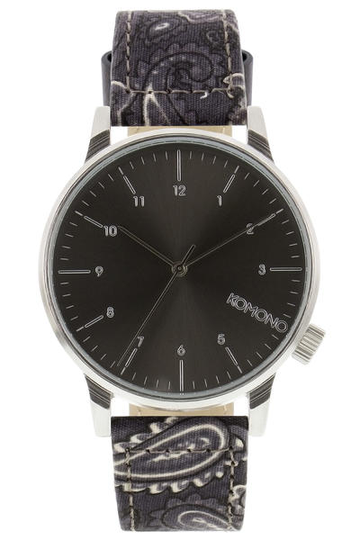 Komono Winston Print Watch (black paisley)