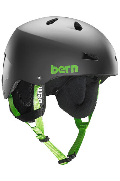 Bern Team Macon Thin Shell Casco de Snow (matte black)