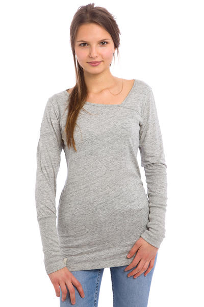 Iriedaily Asym Upset Longsleeve women (grey melange)