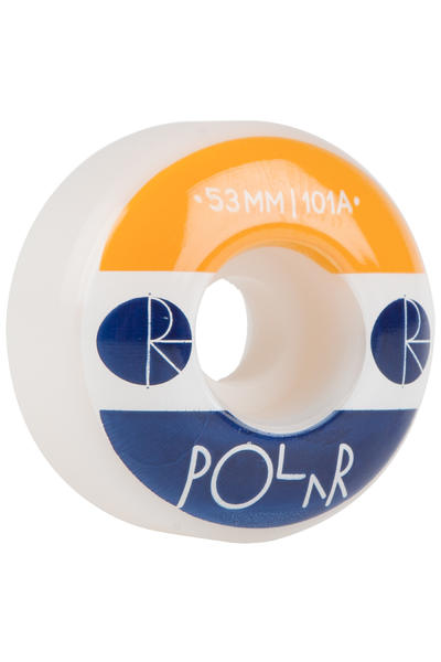Polar Skateboards Fill Logo 53mm Rollen (white) 4er Pack