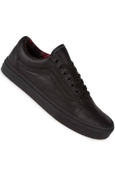 Vans Old Skool Leather Schuh (black plaid)