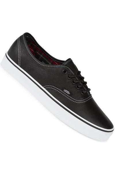 Vans Authentic Leather Shoe (black plaid)