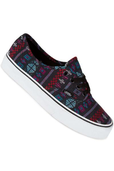 Vans Authentic Schuh women (guate stripe black true white)