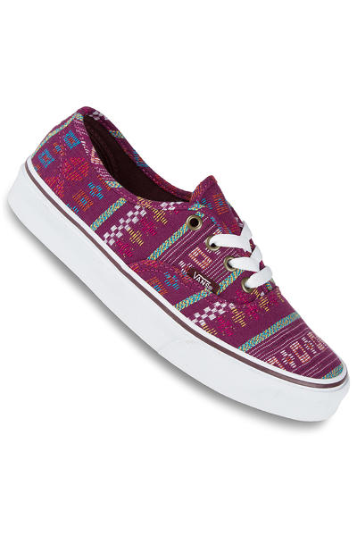 Vans Authentic Schuh women (guate stripe mahogany true white)