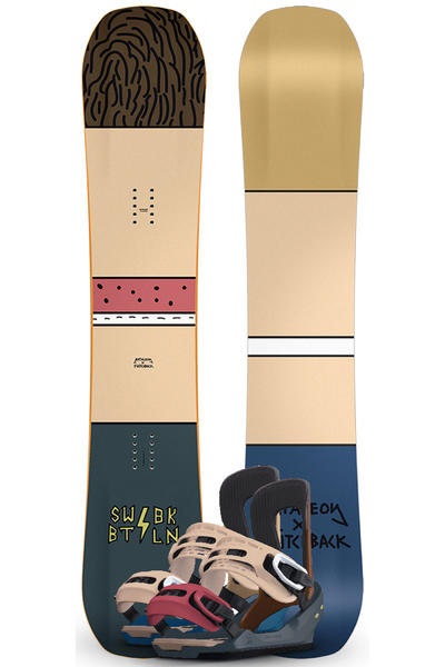 Bataleon x SWBK 151cm / Switchback M Snowboardset 2015/16
