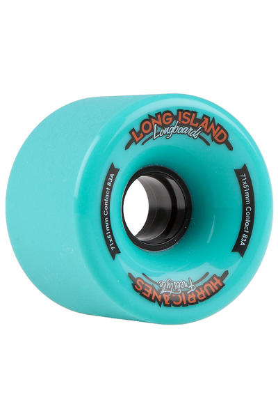 Long Island Hurricanes Freeride 71mm 83A Rollen (turquoise) 4er Pack