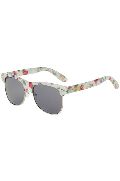 Glassy Sunhaters Shredder Sunglasses (white floral)