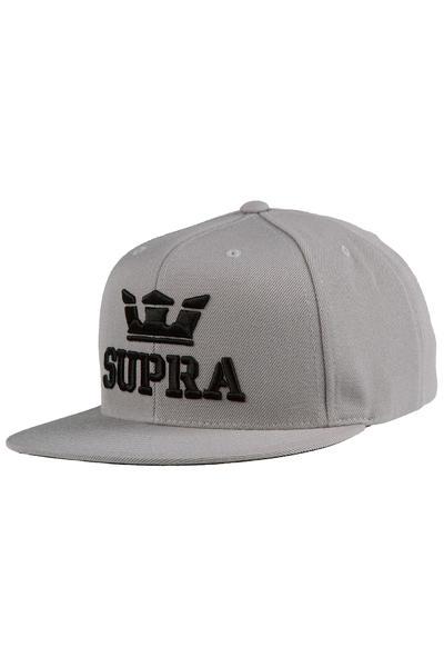 Supra Above Snapback Cap (silver black)