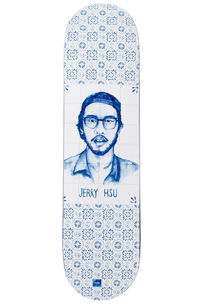 "Chocolate Hsu Talavera 8"" Deck (white blue)"